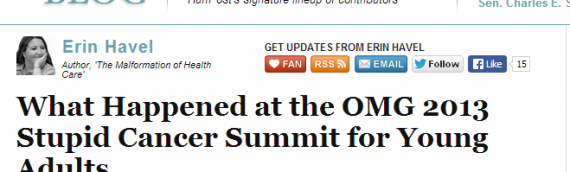 What Happened at the OMG 2013 Stupid Cancer Summit for Young Adults